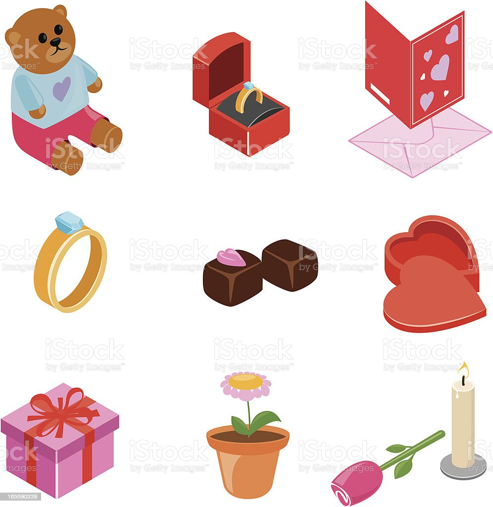 Valentine  icons | ISO collection royalty-free stock vector art