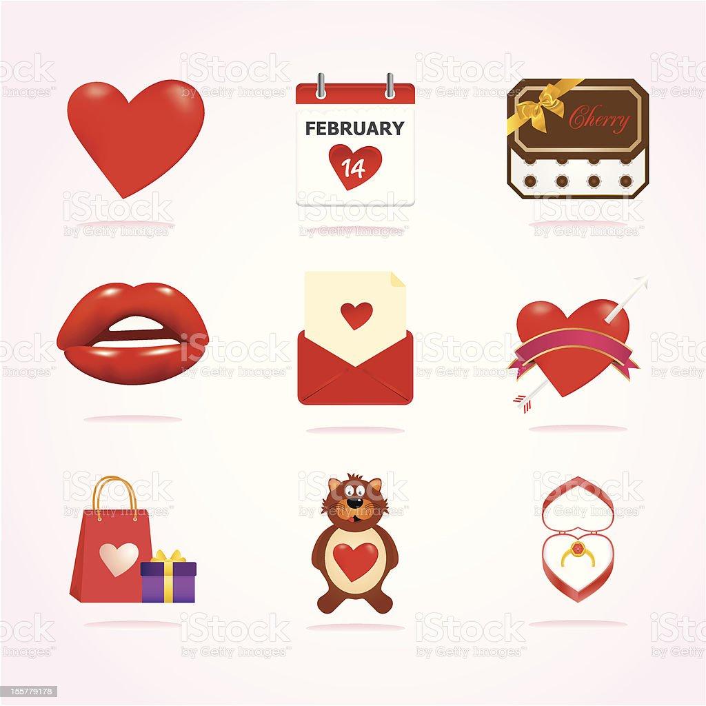 Valentine Icons royalty-free stock vector art