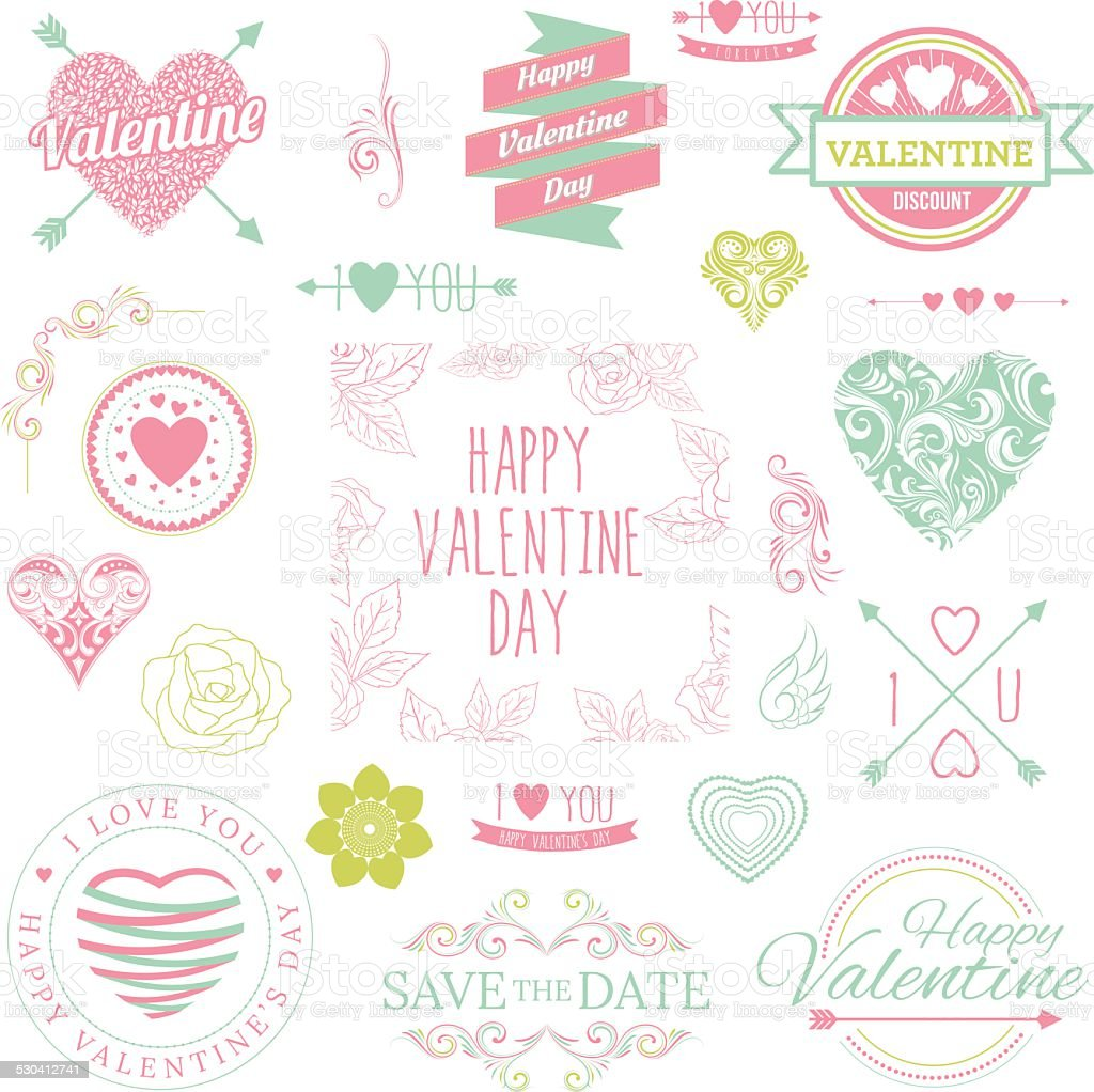 Valentine Illustrations vector art illustration