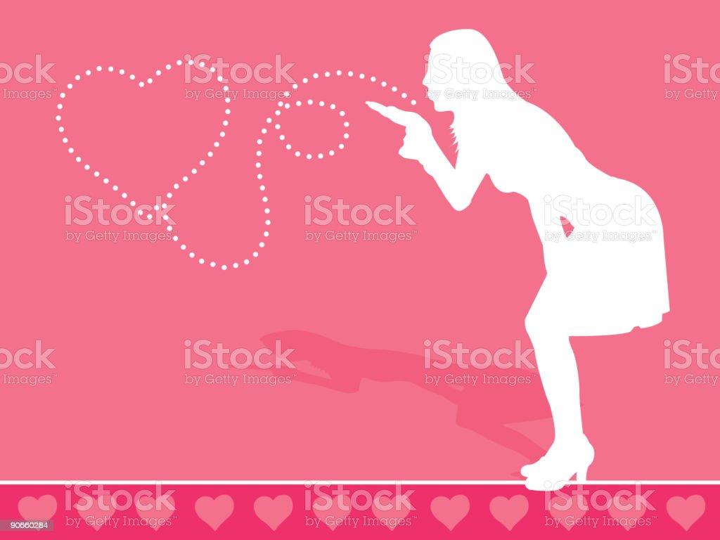 Valentine Kiss royalty-free stock vector art