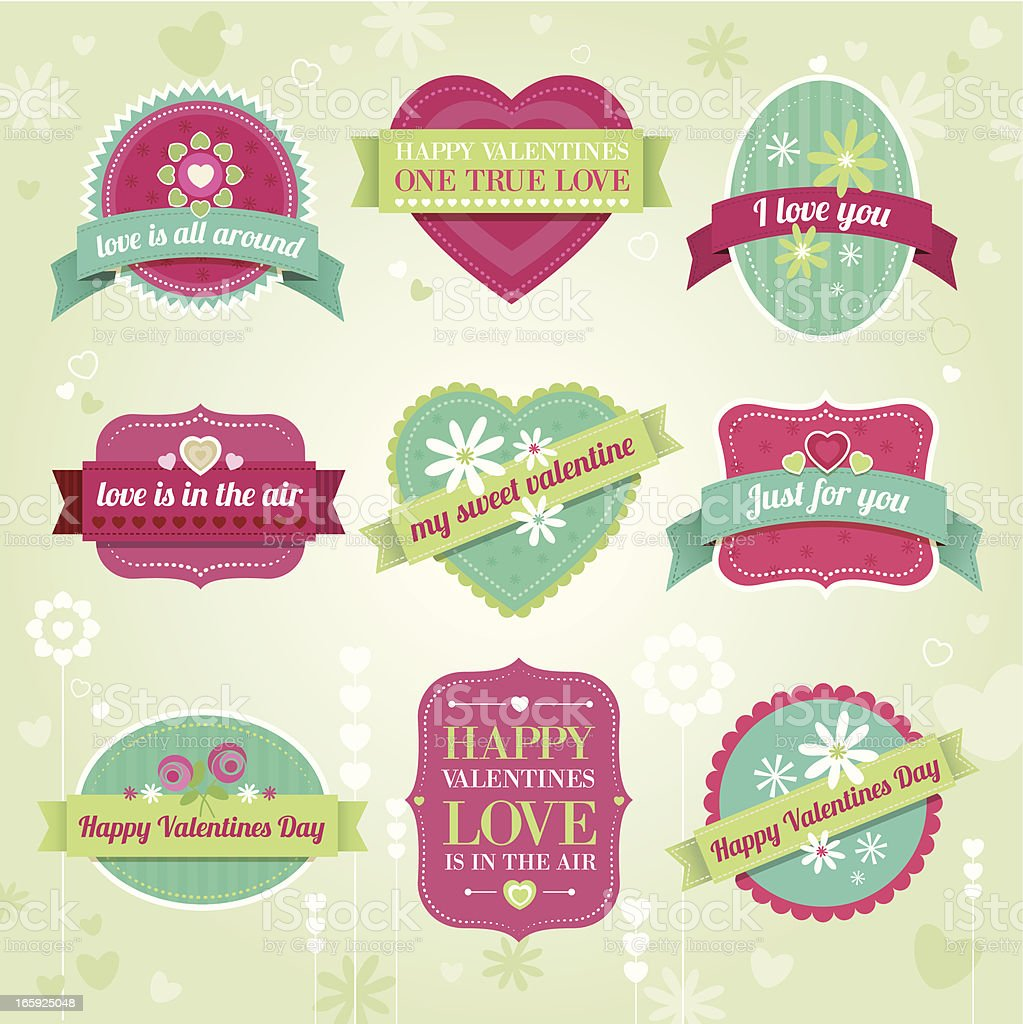Valentine labels royalty-free stock vector art