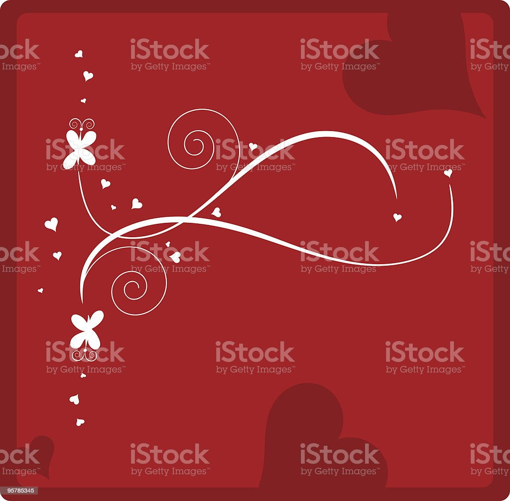 Valentine Love Butterlies royalty-free stock vector art