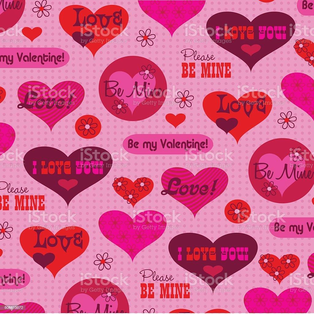 Valentinstag Nachricht Muster Lizenzfreies Vektor Illustration
