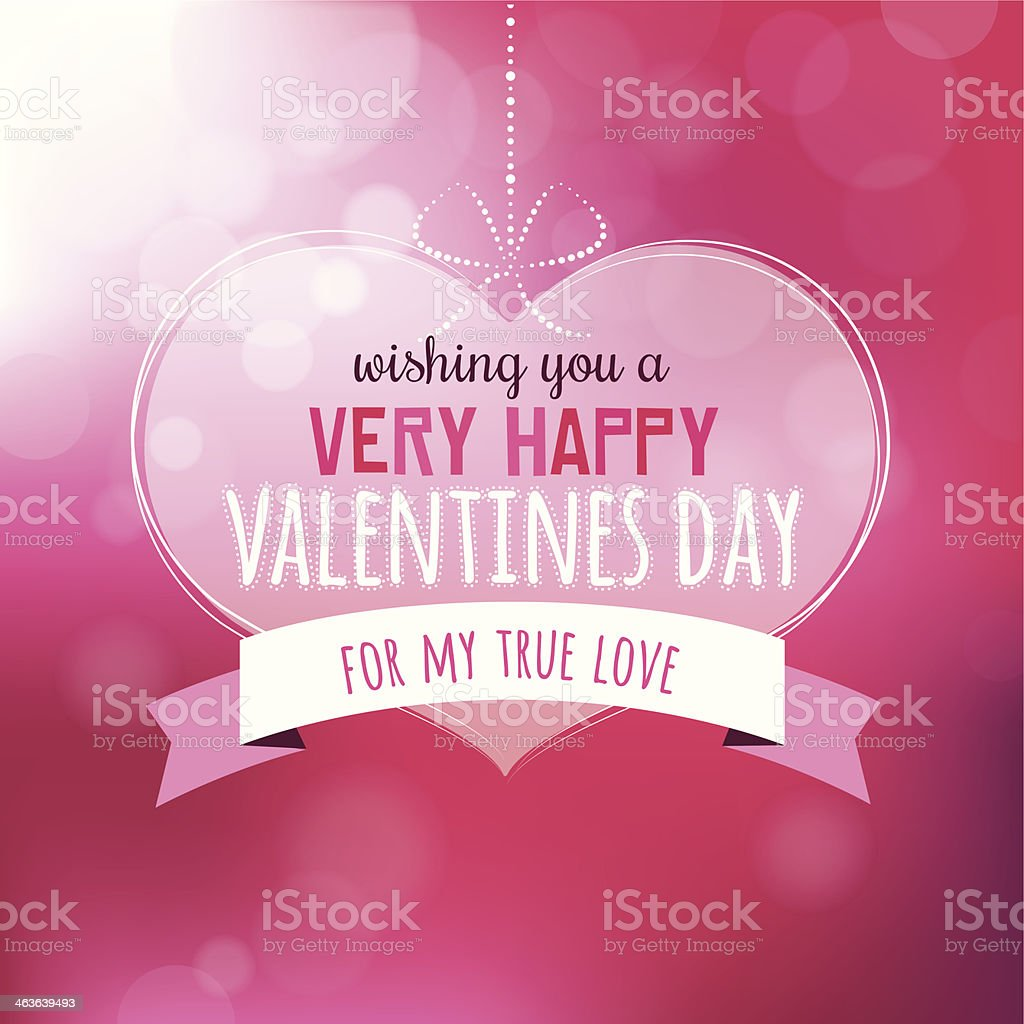 Valentine Message royalty-free stock vector art
