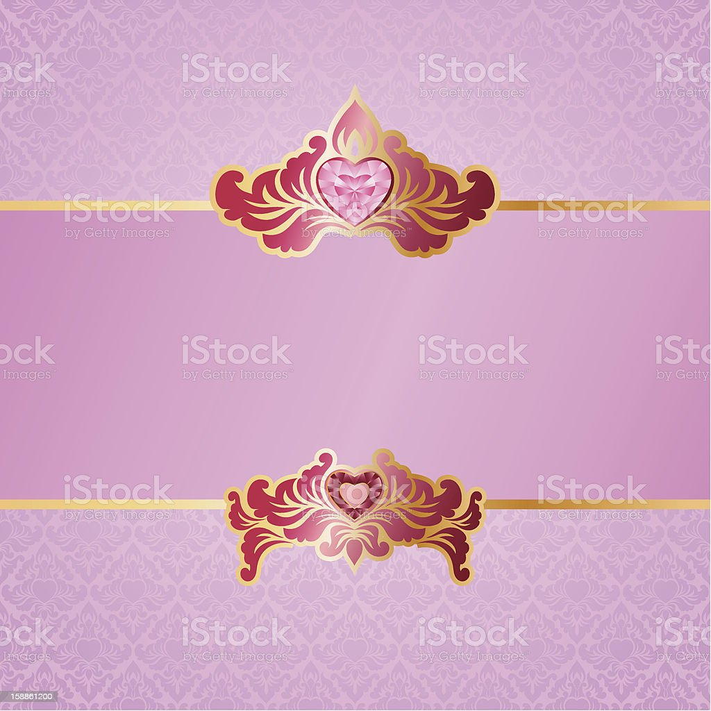 Valentine Ornament Background royalty-free stock vector art
