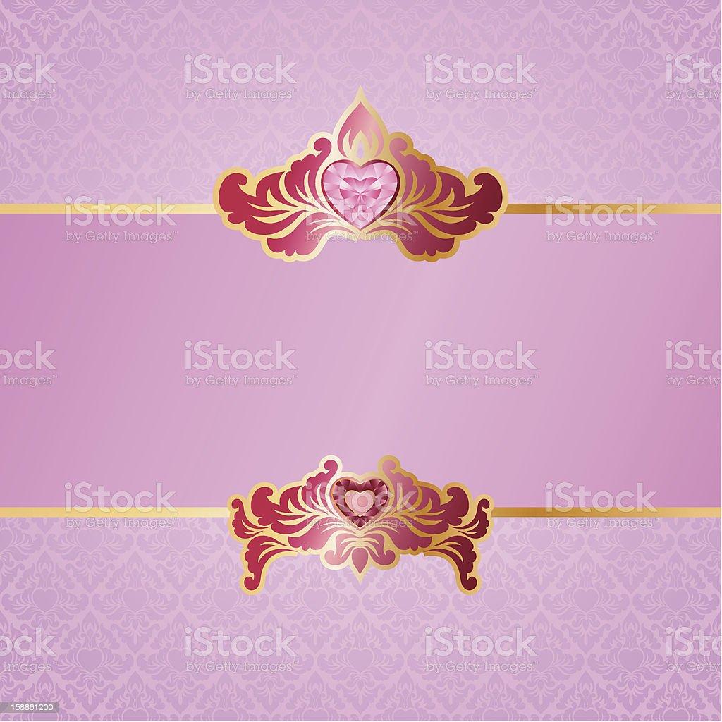 Valentine Ornament Background vector art illustration