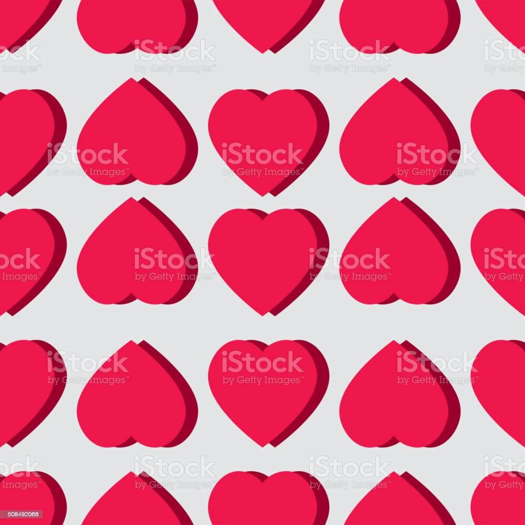 Valentine pattern. Seamless texture with hearts. vector art illustration