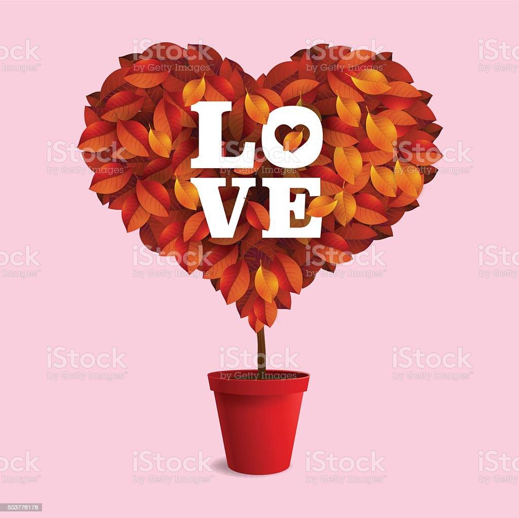 valentine, plant vector art illustration