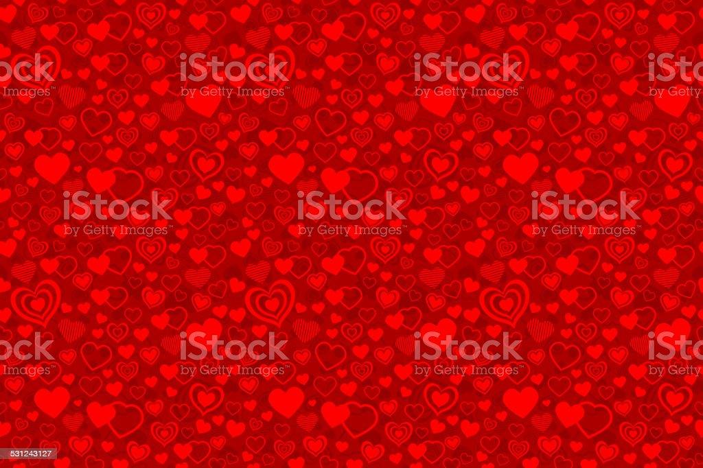 Valentine seamless pattern vector art illustration