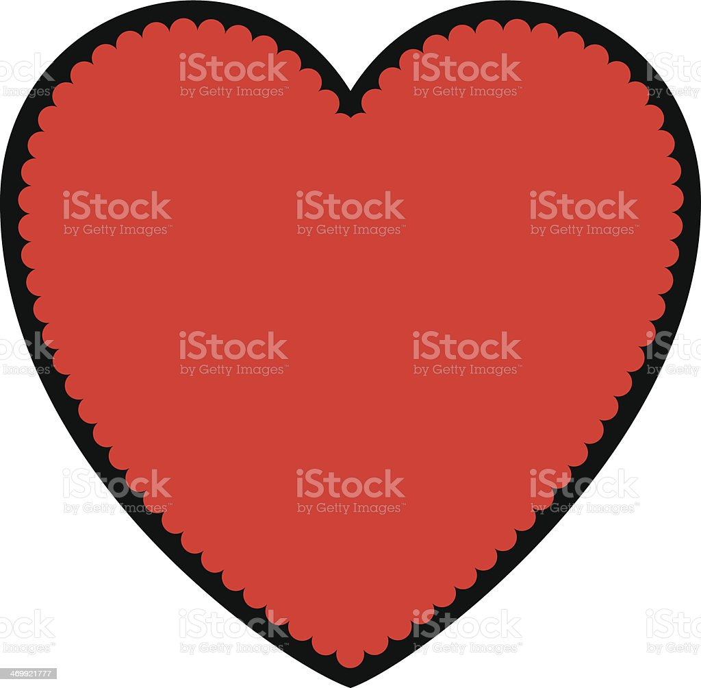 Valentine Sweet Heart Symbol royalty-free stock vector art