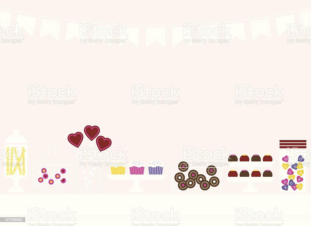 Valentine Sweet Treats vector art illustration