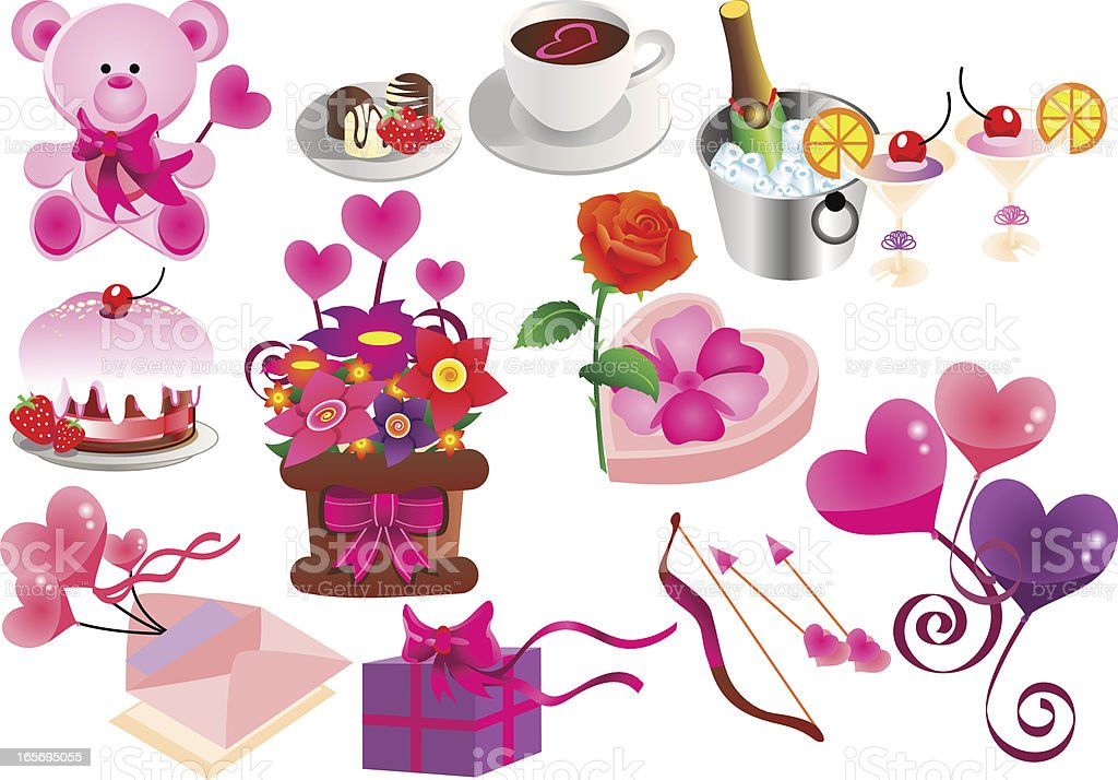 Valentine themes royalty-free stock vector art