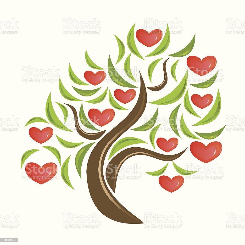 Valentine tree. royalty-free stock vector art