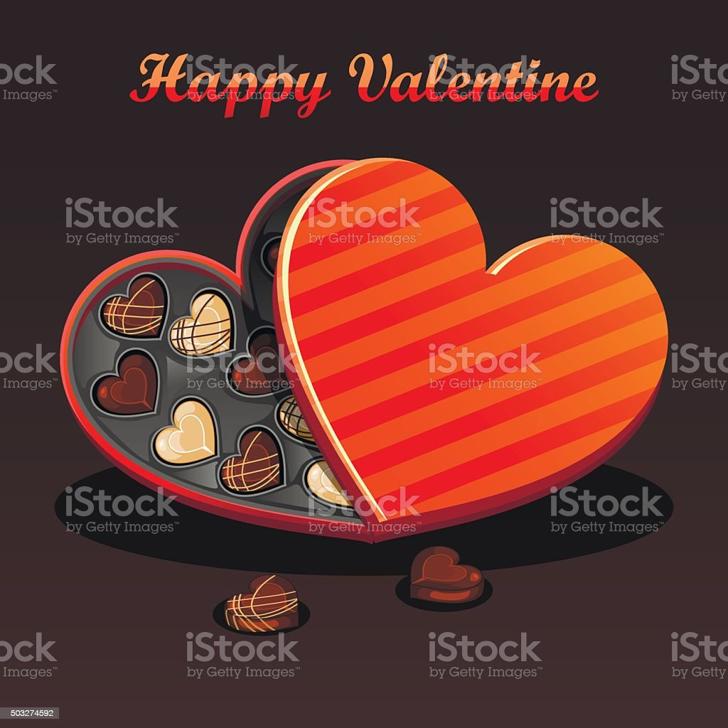Valentine-chocolates vector art illustration