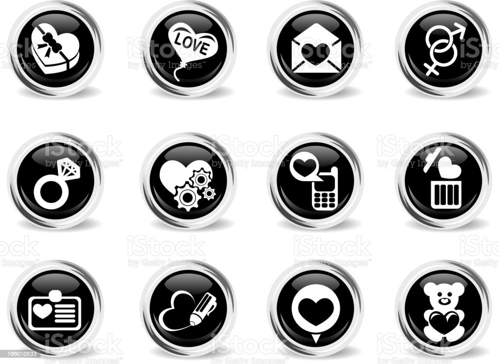 Valentines and Love Icons royalty-free stock vector art