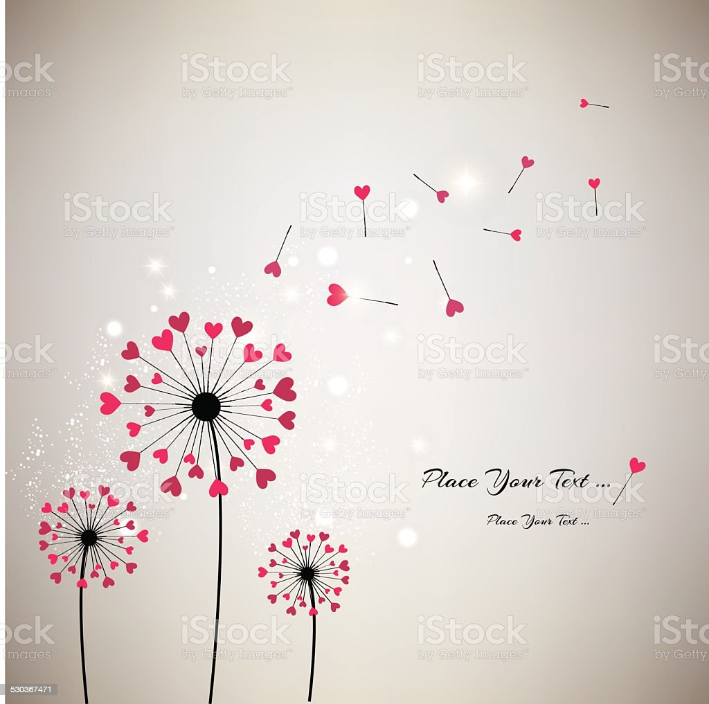 Valentine's background vector art illustration