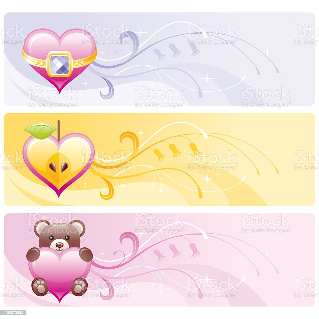 Valentine's banners set royalty-free stock vector art