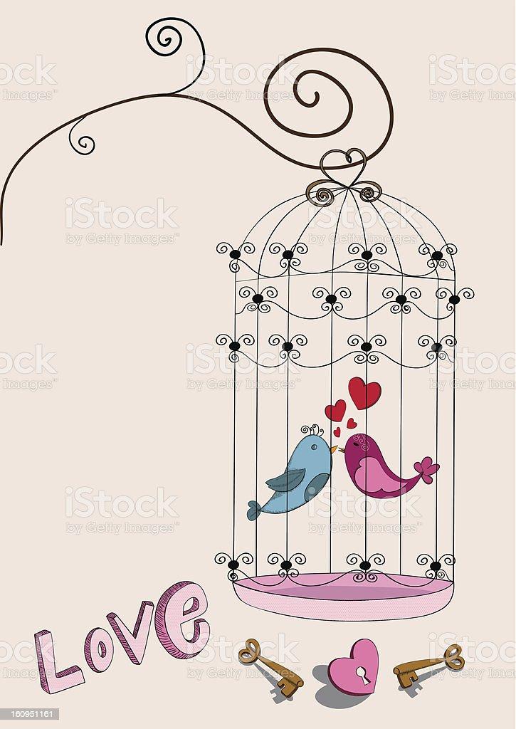 Valentines birds love royalty-free stock vector art