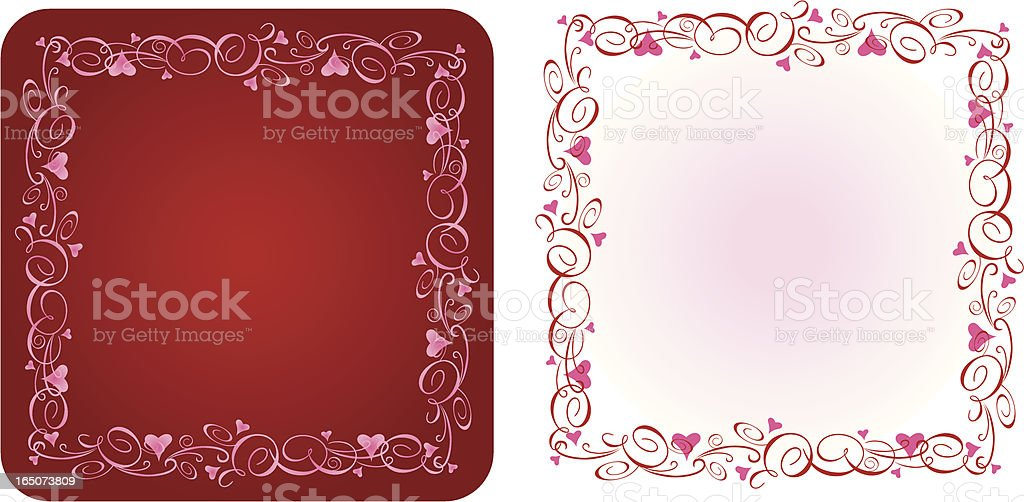 Valentines Borders Set 1 vector art illustration