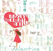 Valentine's card background