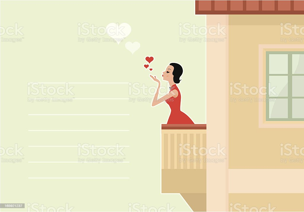 Valentine's Card Design royalty-free stock vector art