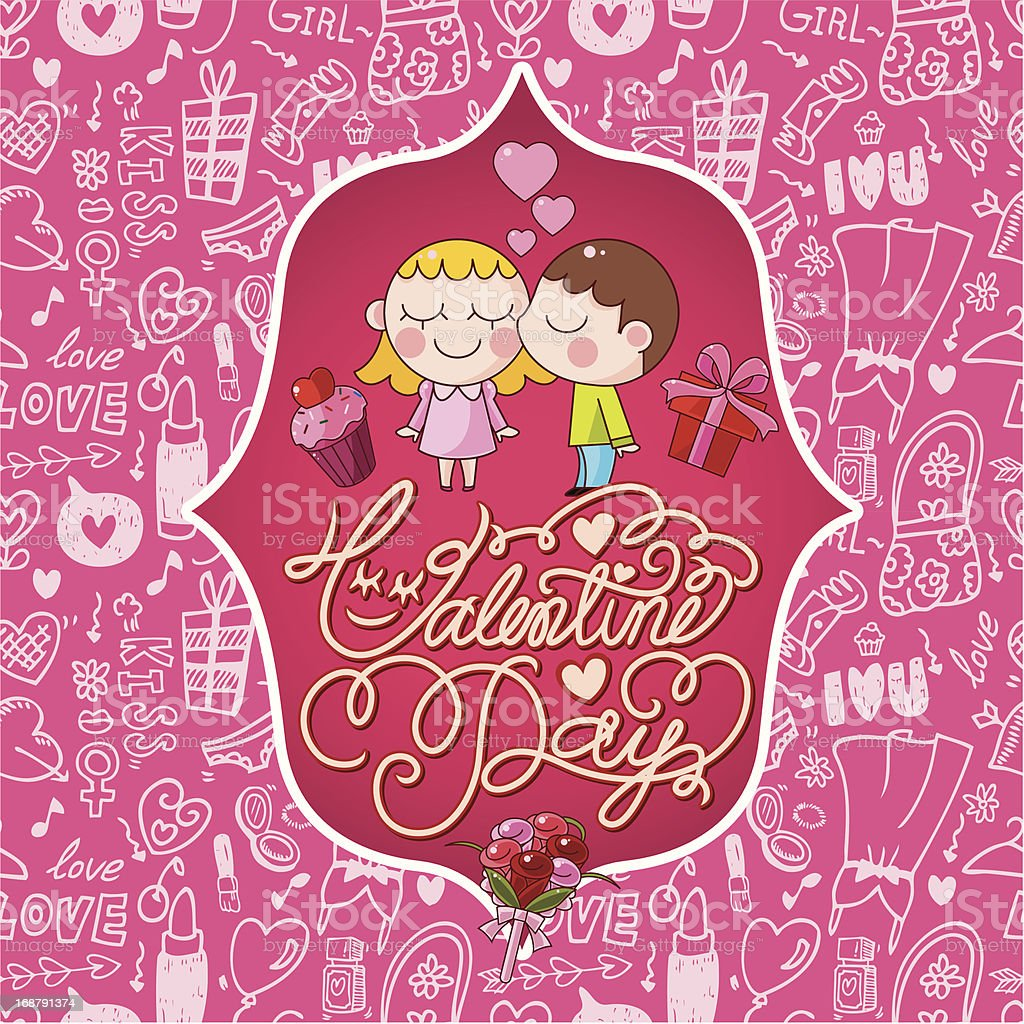 valentine's card royalty-free stock vector art