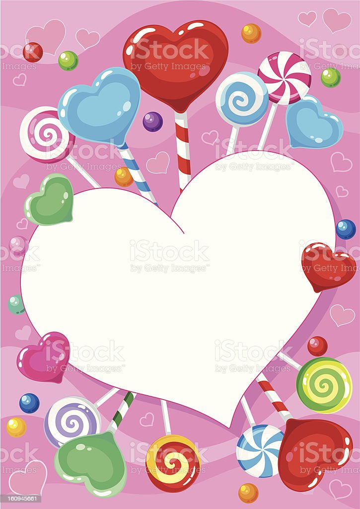 valentines card with candy royalty-free stock vector art