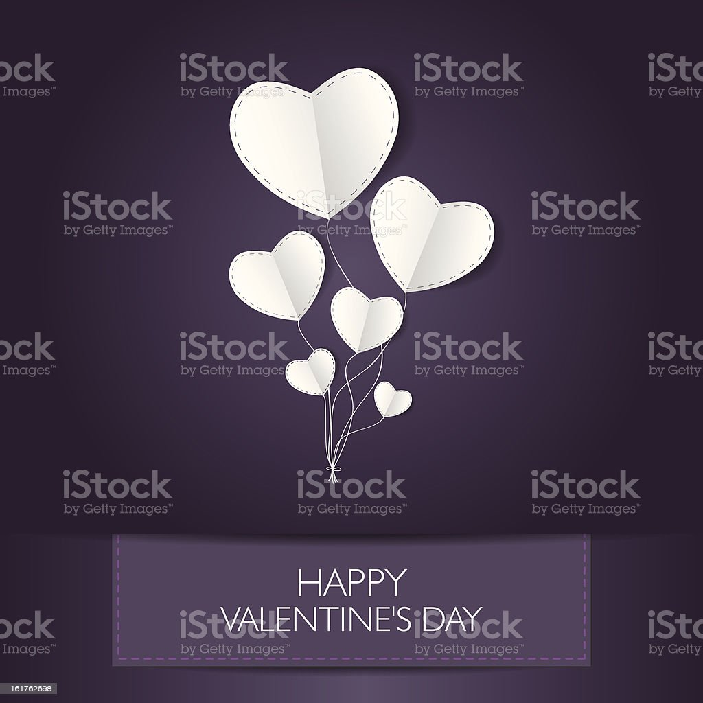 Valentine's card with text and heart shape. Vector ilustration royalty-free stock vector art