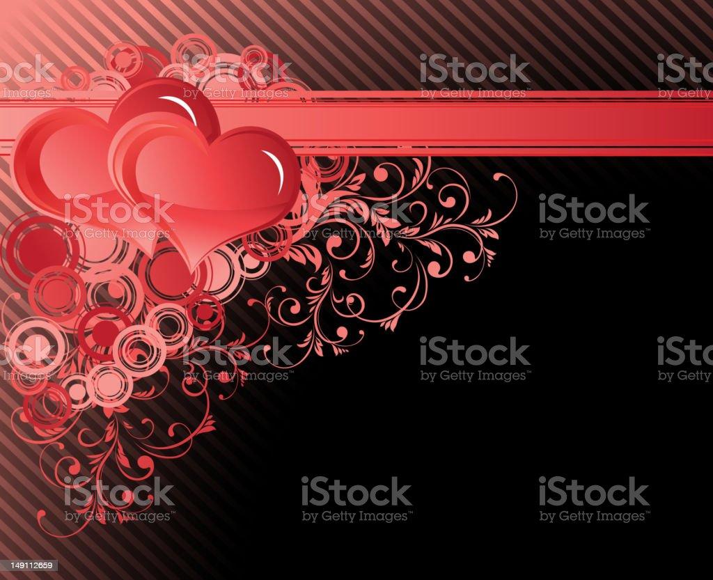 Valentines corner pattern royalty-free stock vector art