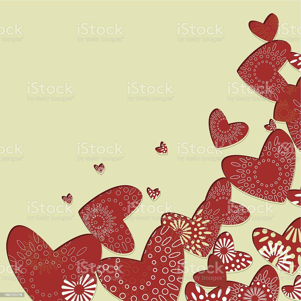 Valentine's corner royalty-free stock vector art