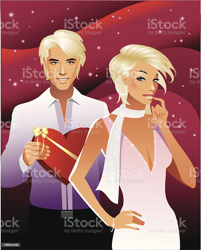 Valentine's couple royalty-free stock vector art