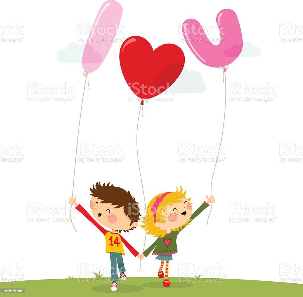 Valentine?s couple royalty-free stock vector art