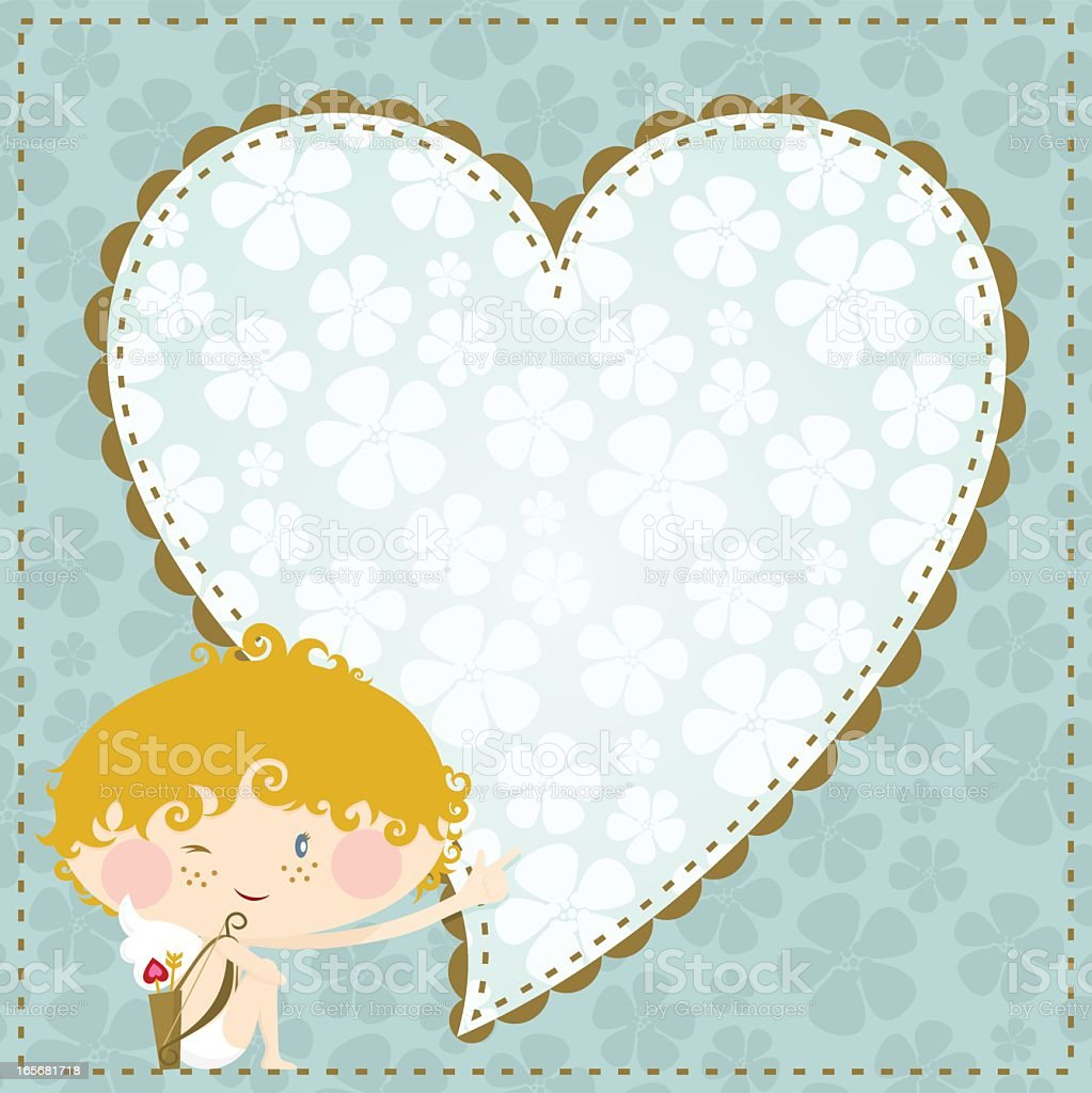 Valentine?s cupid royalty-free stock vector art