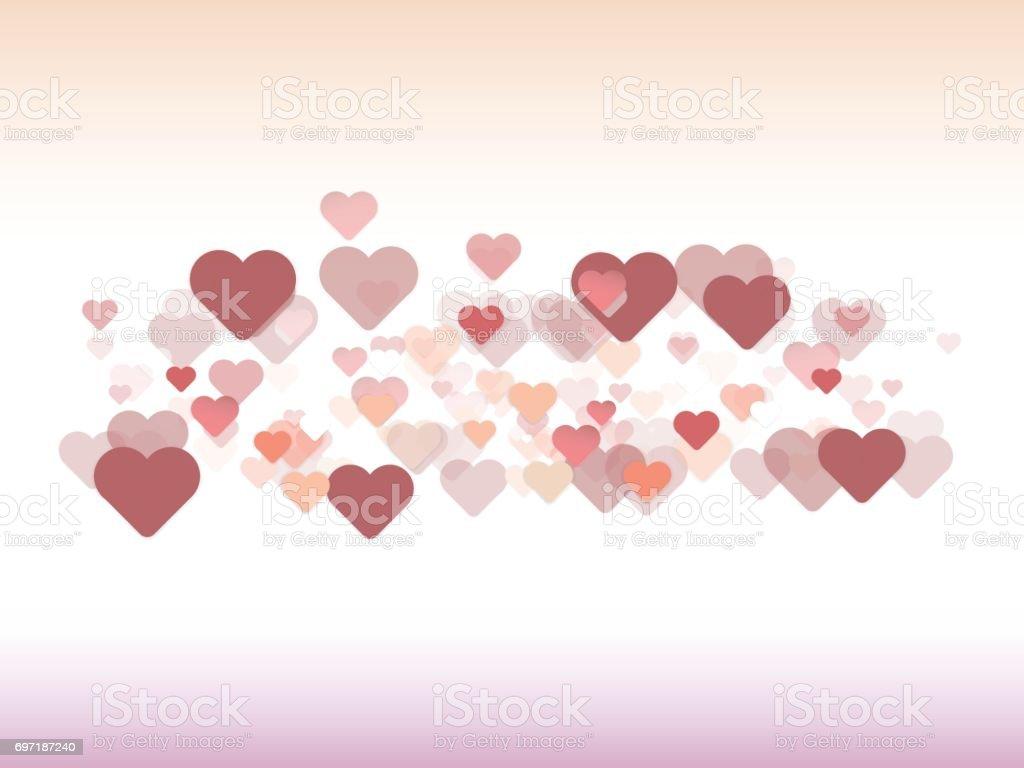 Valentines Day Background Design for your love concept vector art illustration