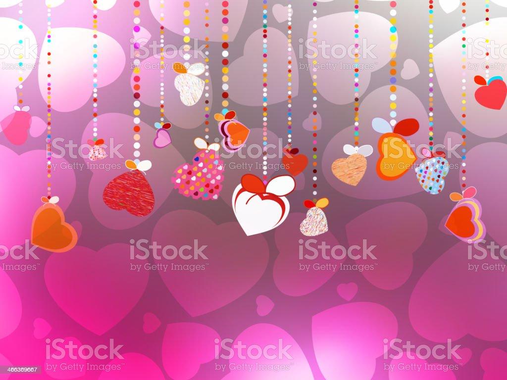 Valentines Day Background. EPS 10 vector art illustration