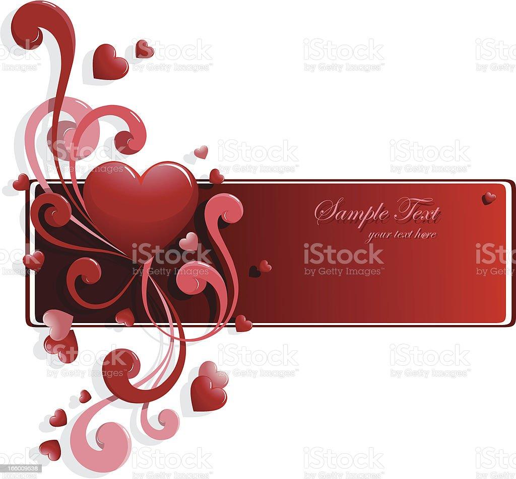 Valentine's day background vector art illustration