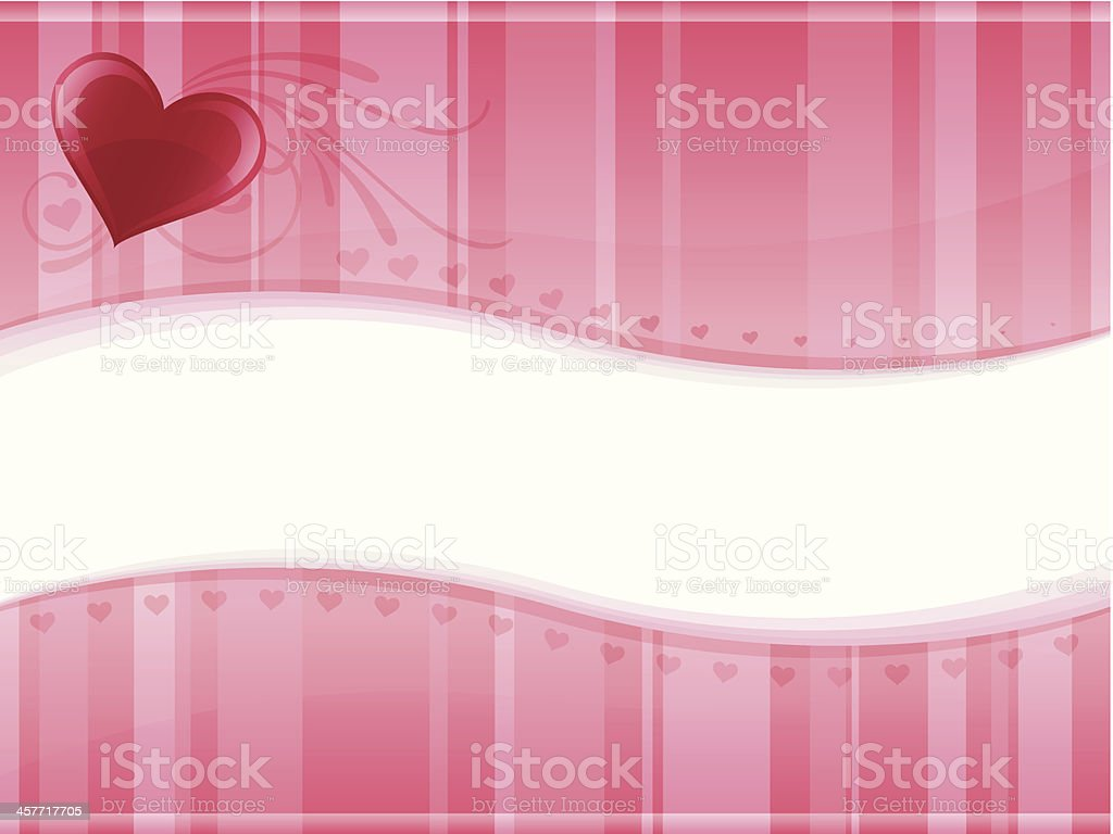 Valentine's Day Background vector art illustration