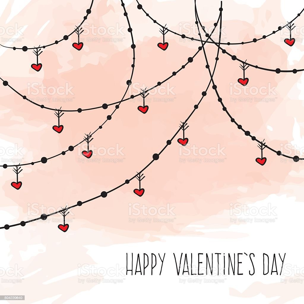 valentines day background vector art illustration