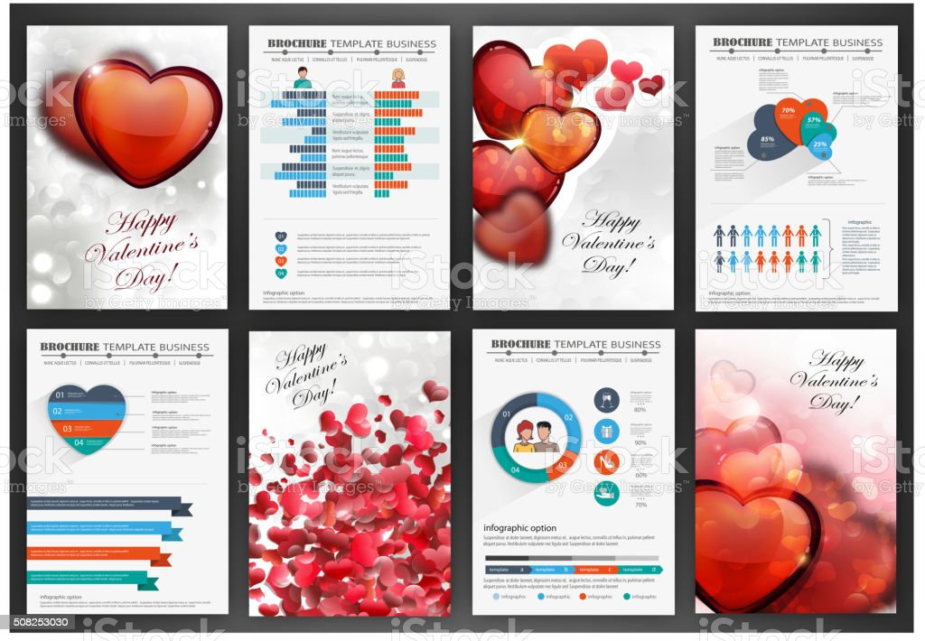 Valentines day backgrounds with hearts vector art illustration