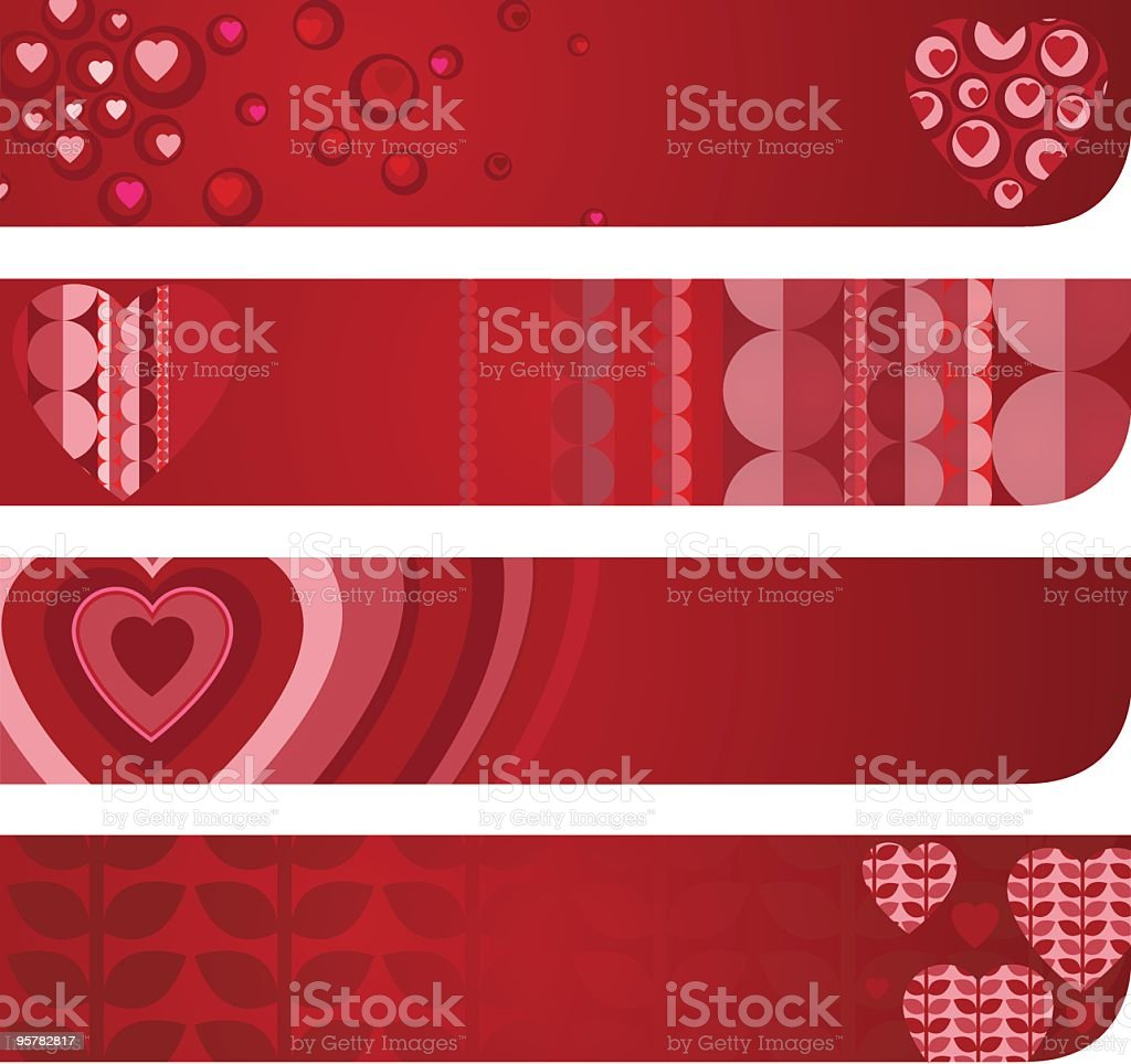 Valentine's day banners royalty-free stock vector art