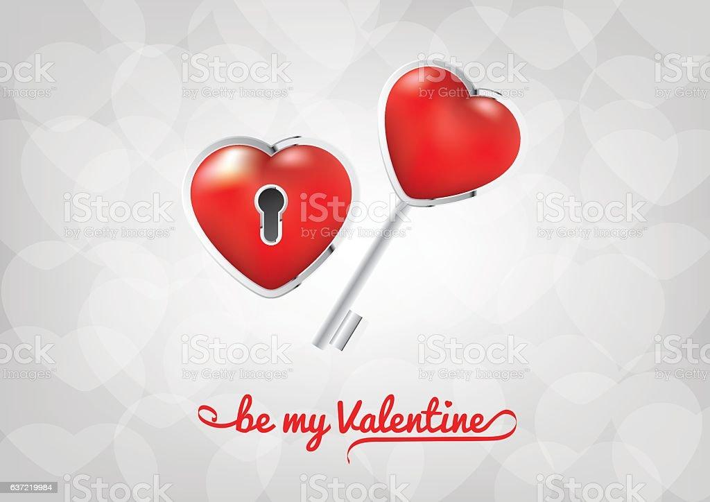 Valentines Day - Be my Valentine vector art illustration
