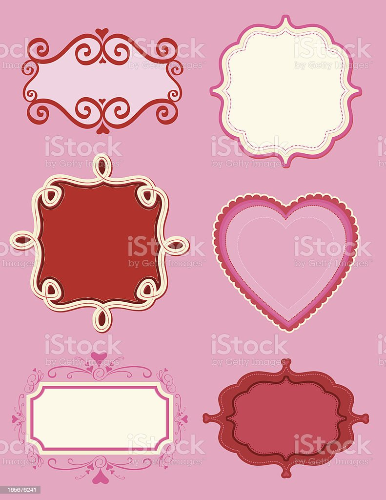 Valentine's Day Bookplate Collection royalty-free stock vector art