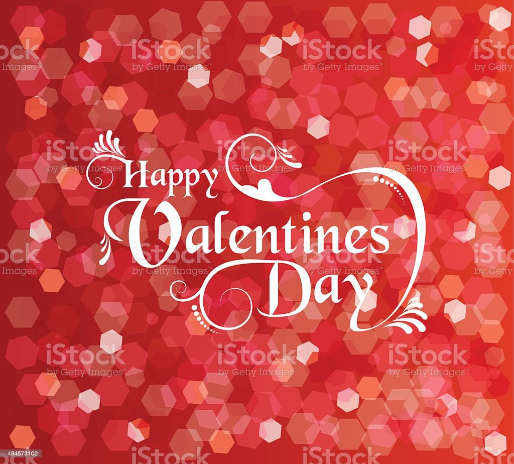 Valentines Day Card Background Text Bokeh Light stock vector art – Valentines Card Background