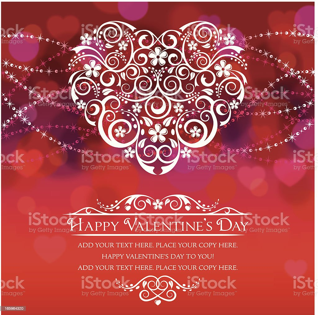 Valentine's Day Card royalty-free stock vector art