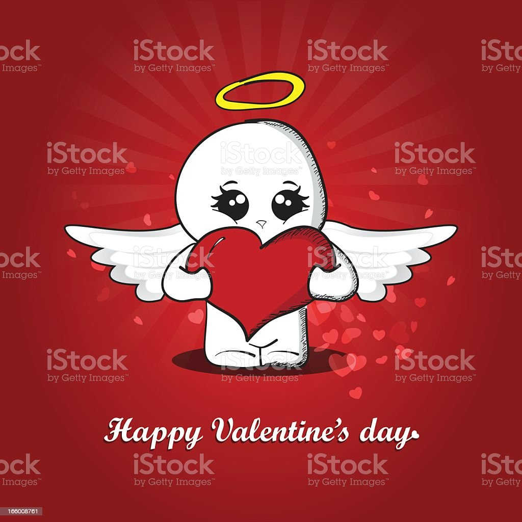 Carte de la Saint-Valentin stock vecteur libres de droits libre de droits
