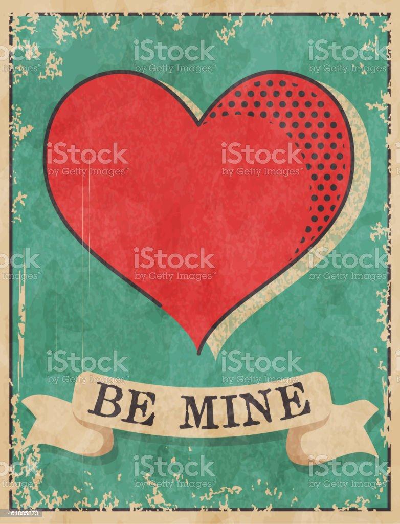 Valentine's day card vector art illustration