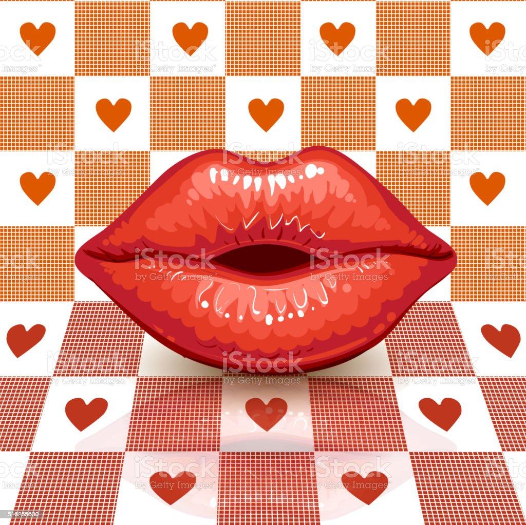 Valentine's  day card . vector art illustration