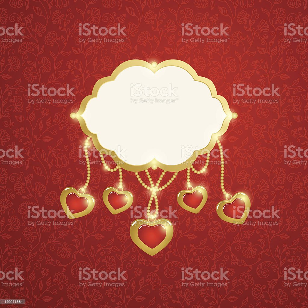 Valentine's Day Card. Vector Illustration royalty-free stock vector art