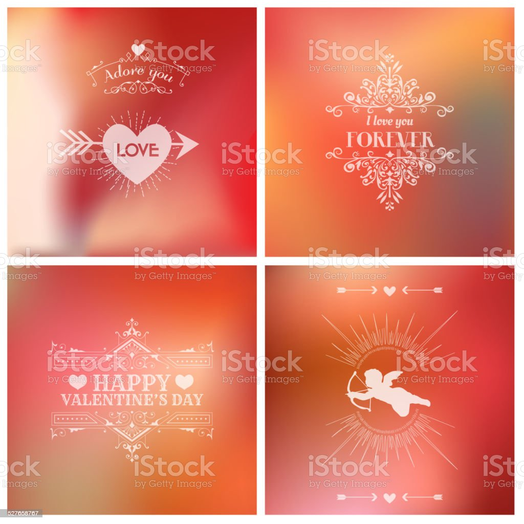 Valentine's Day Card - with Love Quote vector art illustration