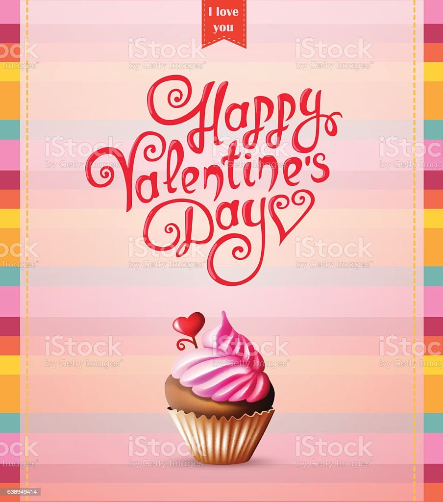 Valentines day card with text and cake stock vector art 638949414 valentines day card with text and cake royalty free stock vector art buycottarizona